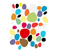 Circles patterns coloured  Photographic Print
