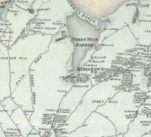 Vintage Map of East Hampton New York (1873) Sticker