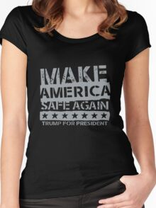 Make American Safe Again Women's Fitted Scoop T-Shirt