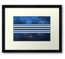 Intermittent sky at sunset Framed Print