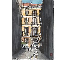Barcelona Urban Sketch Photographic Print