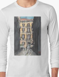 Barcelona Urban Sketch Long Sleeve T-Shirt