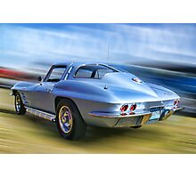 Speed,Style,......And Beauty ( 63 Vette ) Photographic Print