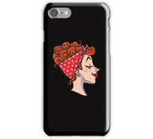 Rockabilly Redhead - 50s Pinup Cameo iPhone Case/Skin