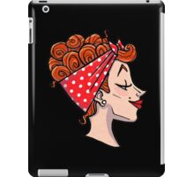 Rockabilly Redhead - 50s Pinup Cameo iPad Case/Skin