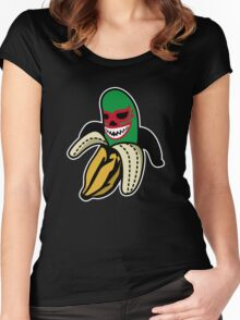 LUCHA BANANA Women's Fitted Scoop T-Shirt