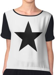 BLACK Star, Dark Star, Black Hole, Stellar, Achievement, Cool, Chiffon Top
