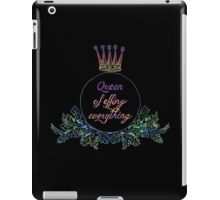 queen of effing everything iPad Case/Skin