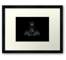 queen of effing everything Framed Print