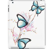 Watercolour Butterflies on Apple Blossom iPad Case/Skin