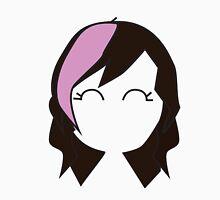 Pink Hipster Hair Unisex T-Shirt