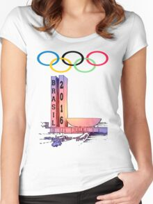 Olympics rio Brazil 2016 sport Women's Fitted Scoop T-Shirt