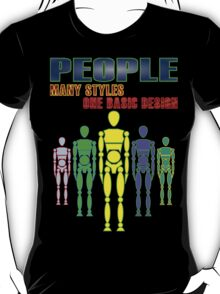Many people, one design - bright T-Shirt