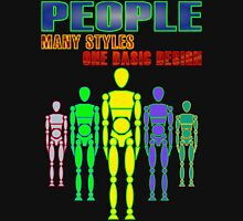 Many people, one design - bright Womens Fitted T-Shirt