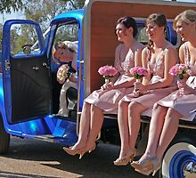 Arriving for the wedding, country style by Margaret  Hyde
