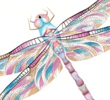 Watercolour Dragonfly Sticker