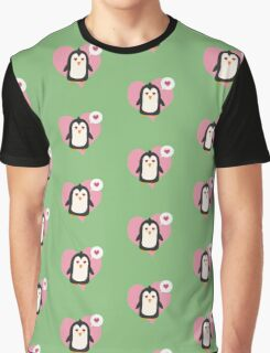 Penguin with a heart   Graphic T-Shirt