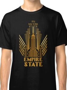 The Empire State Building in art deco style, NY Classic T-Shirt