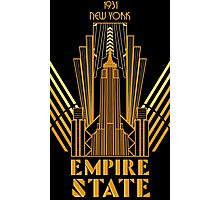 The Empire State Building in art deco style, NY Photographic Print