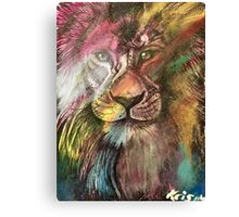 Lion at the discotheque  Canvas Print
