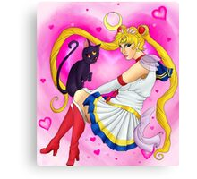 Super Sailor Moon and Luna Canvas Print