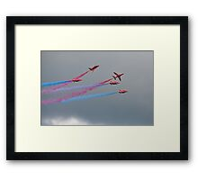 Hawk T1A  Red Arrows  Framed Print
