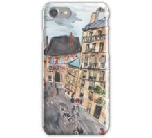 Parisian View from the 5th Arrondissement  iPhone Case/Skin