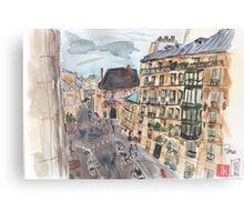 Parisian View from the 5th Arrondissement  Canvas Print