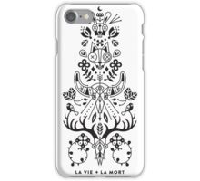 La Vie + La Mort: Black Ink iPhone Case/Skin