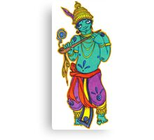 Hindu man with pipe Canvas Print