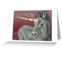The Magnificent Unicorn Donkey Greeting Card