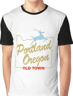 Portland Oregon - Made in Oregon Sign Graphic T-Shirt