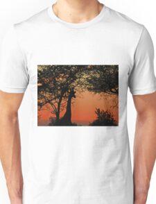 A Giraffe Sunrise Unisex T-Shirt