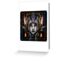 Thinosia Queen Of Armageddon Greeting Card