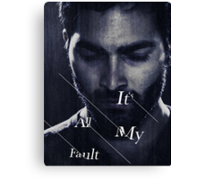 It's All My Fault Canvas Print