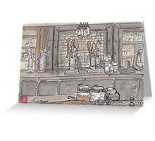 Urban Sketch of Roam Bar Greeting Card