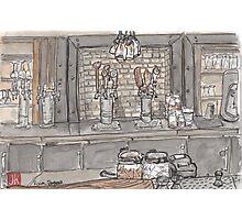 Urban Sketch of Roam Bar Photographic Print
