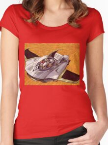 Chrono Fly Women's Fitted Scoop T-Shirt