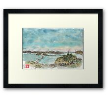 A view of San Francisco Bay Framed Print