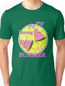 Cute Pink Water Melon Funny Novelty Summer Sun Graphic Design Unisex T-Shirt