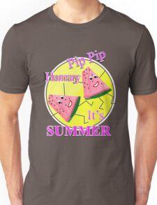 Cute Pink Water Melon Funny Novelty Summer Sun Graphic Design Unisex T-Shirt