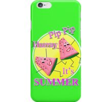 Cute Pink Water Melon Funny Novelty Summer Sun Graphic Design iPhone Case/Skin