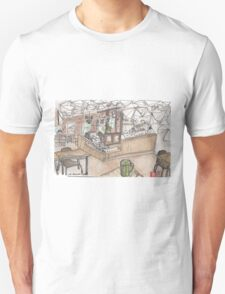 Kaleidoscope Coffee Sketch Unisex T-Shirt