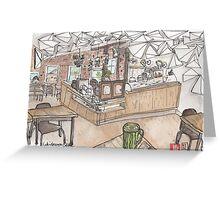Kaleidoscope Coffee Sketch Greeting Card