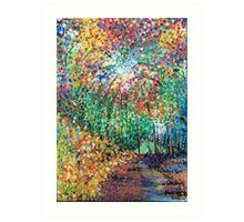 Firework forest Art Print