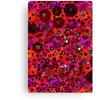 Red Small Flowers Canvas Print