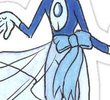 Matte Blue Pearl Sticker