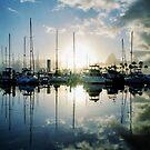 mirrored marina by RichCaspian