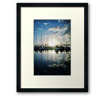 mirrored marina Framed Print