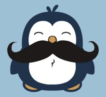 Mustache Penguin One Piece - Short Sleeve